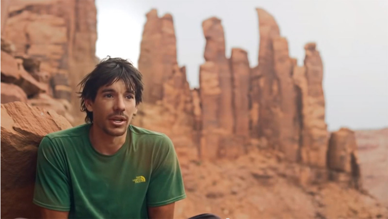 Alex Honnold nel Green River, Utah, USA, The North Face