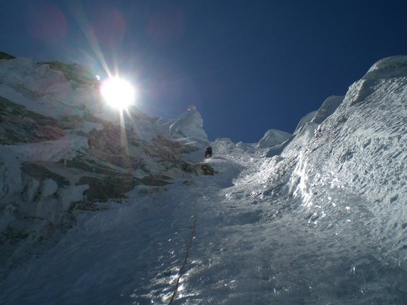At 5900m during the first day., Arch. Francesco Fazzi