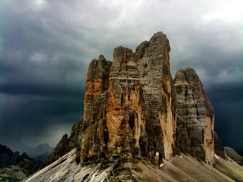 Temporale in arrivo, Tre Cime di Lavaredo, Dolomiti, Alberto De Giuli