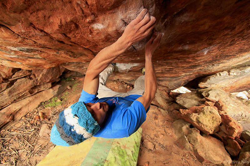 Golden Shadow 8B+ Rocklands, South Africa., Nils Favre