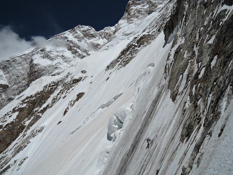 Hansjörg Auer a 5600m, Auer & Anthamatten