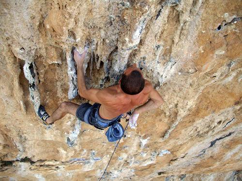 Climbing in Alquezar, Penna