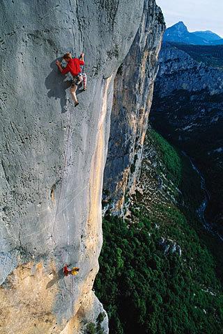 Arnaud Petit, Eve Line (7b), Verdon Gorge, Francia, Simon Carter