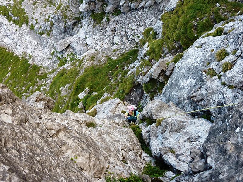 Sulla Fessura Comici al Zuccone dei Campelli (Alpi Orobie Occidentali), archivio Ivo Ferrari