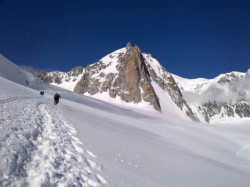 Avvicinamento alla Tour Ronde (Monte Bianco), archivio Enrico Paganin