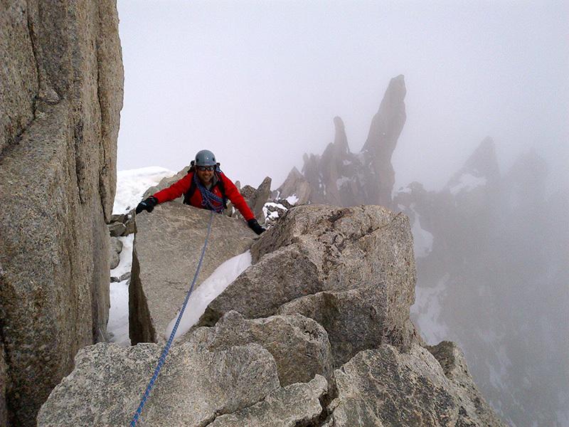 In prossimità della cima della Tour Ronde (Monte Bianco), archivio Enrico Paganin
