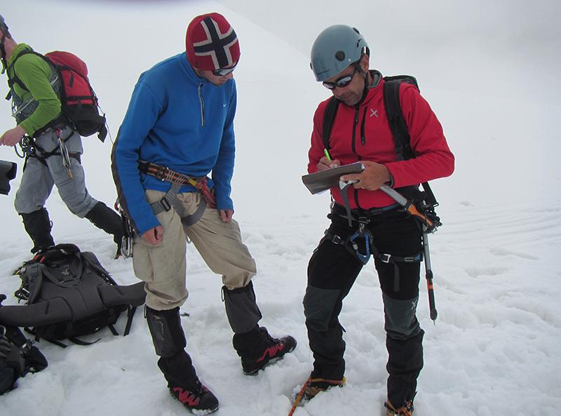 Intervista volante sul ghiacciaio..., archivio Enrico Paganin