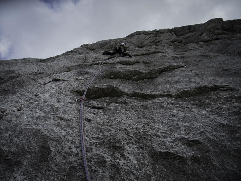 Zeitgeist (300m, 7c+, 7b obbl, Markus Haid, Florian Klingler 09/2012) Roßkopf, Rofan Gebirge, Austria., archivio Florian Klingler