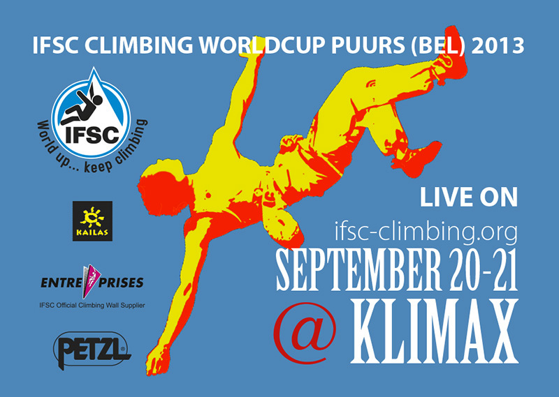 From 20 - 21 September at Puurs (Belgium) the stage of Lead World Cup 2013., IFSC
