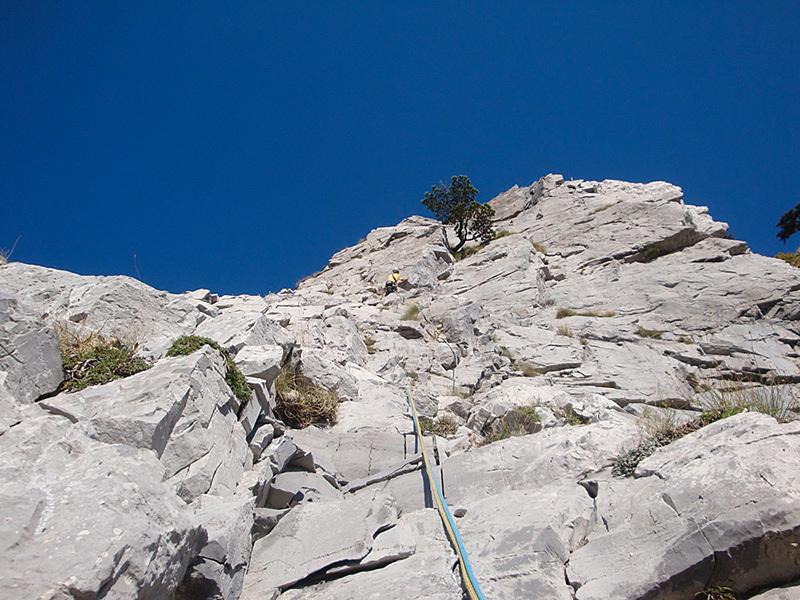 Sul 13° tiro di Le Lisce d'Arpe, Monte Alpi, archivio Cristiano Iurisci
