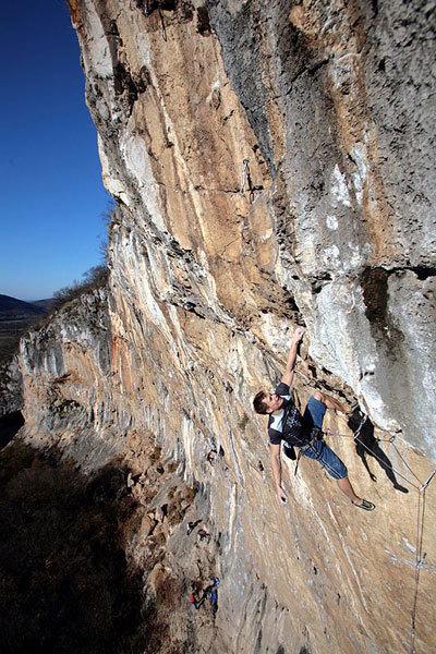 Matej Sova climbing Ekstaza 8c+/9a, Misja Pec, Slovenia, Urban Golob