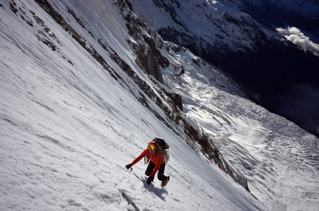 Ueli Steck on the South Face of Annapurna, © Don Bowie