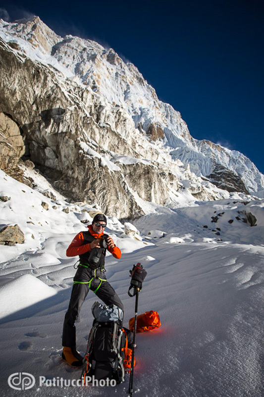 Ueli Steck and the first ascent of the direct line up the South Face of Annapurna., ©PatitucciPhoto