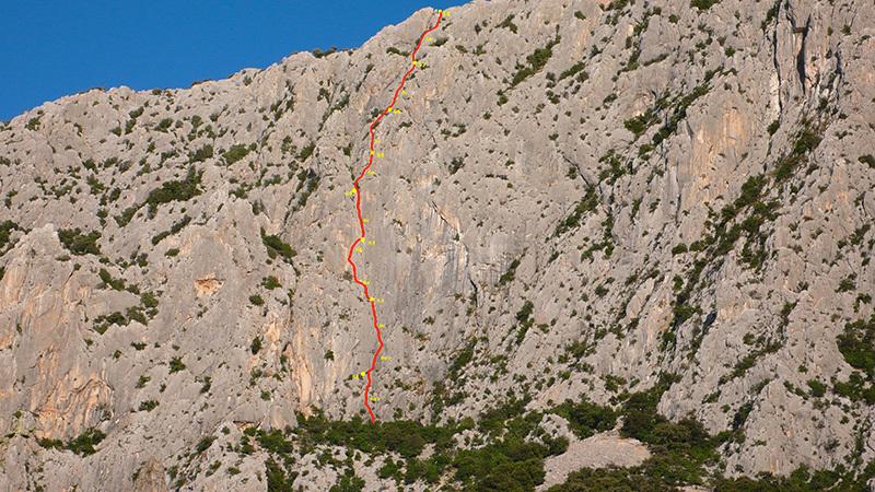 Il tracciato di Prcek, Punta Cusidore., Corrado Pibiri