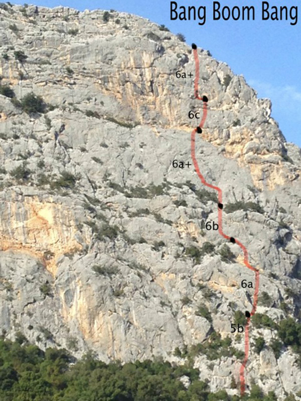 Bang Boom Bang, la nuova via del Monte Oddeu , Michael Schaefer