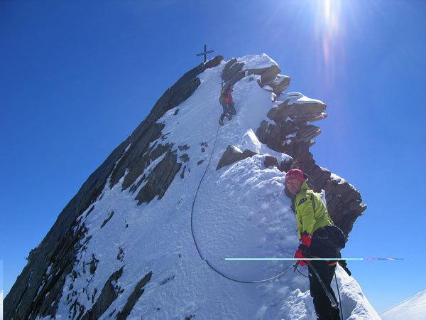 Il tour di Nicolini, Mezzanotte e Giovannini sugli 82 Quattromila delle Alpi, arch. Linea 4000
