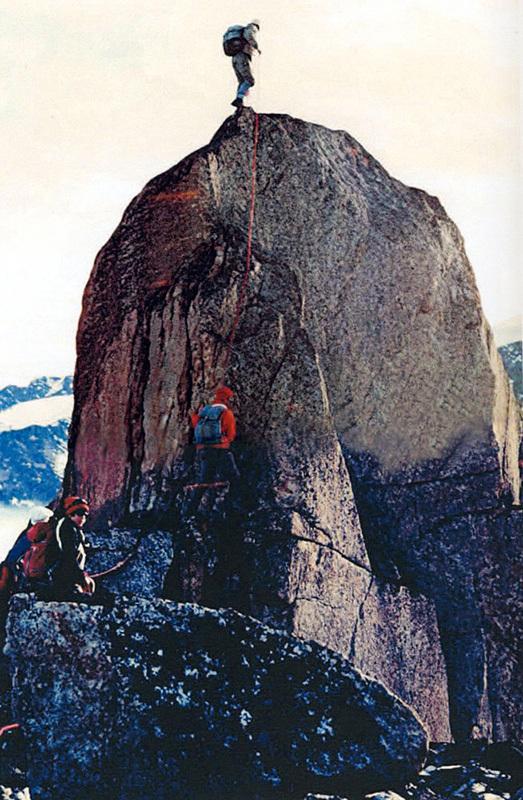 La prima salita in vetta all'Aiguille du Couchant (1600m), archivio Maria Pia Ambrosetti Molinari