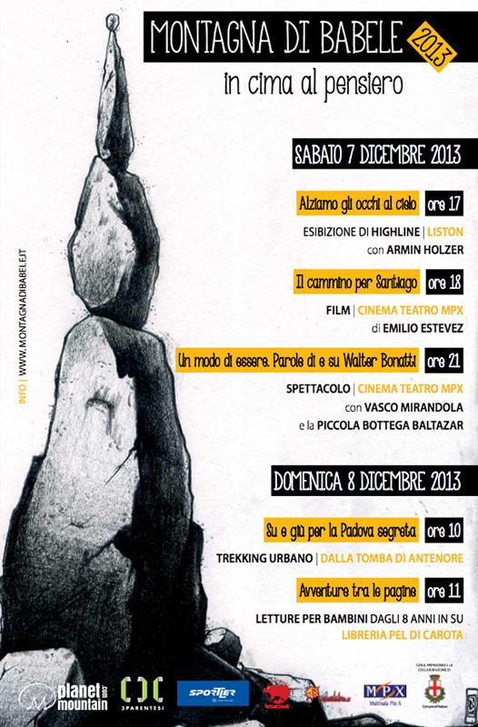 Sabato 7 e domenica 8 dicembre a Padova la prima edizione di Montagna di Babele., Planetmountain