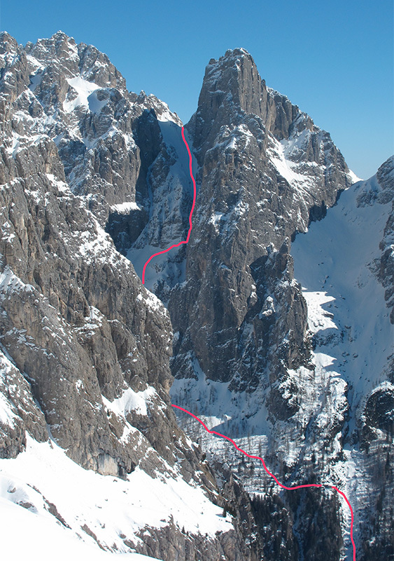 Canale Sant Anna, Pale di San Martino: the descent, archivio Eric Girardini