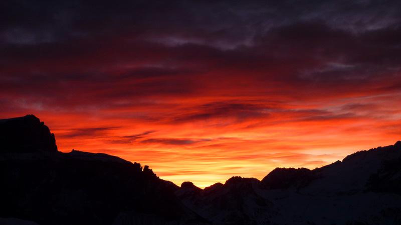 Goulotte Raggio di sole + Cascata dello Spallone: dawn, Beppe Ballico