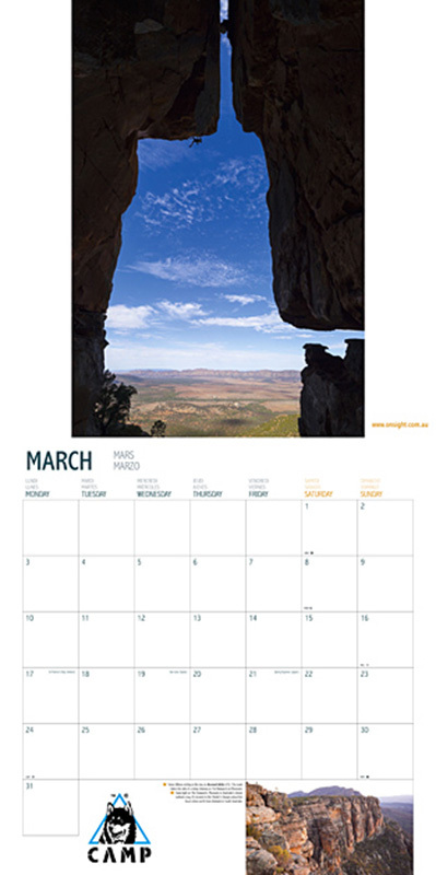 World Climbing Calendar 2014, Simon Carter / Onsight Photography