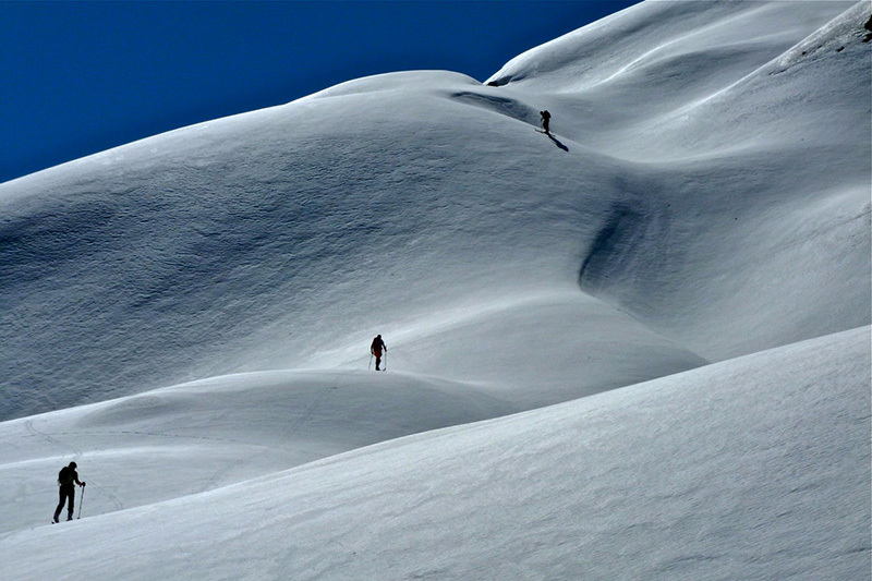Ski mountaineering in the Apuan Alps: ascending the hollows up Carcaraia, Roberto Bergamini