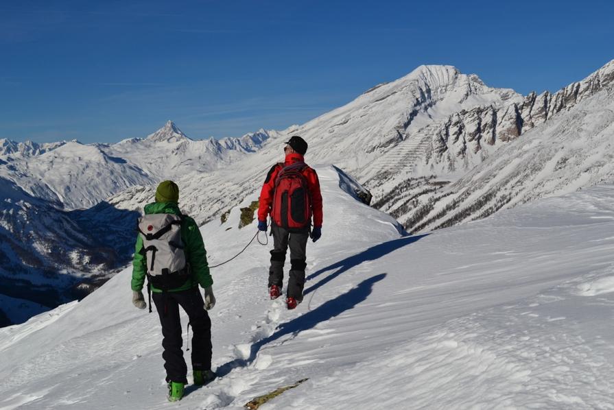 Dalla cima dello Tschuggmatthorn il Bietschhorn, archivio Alberto Paleari e Erminio Ferrari