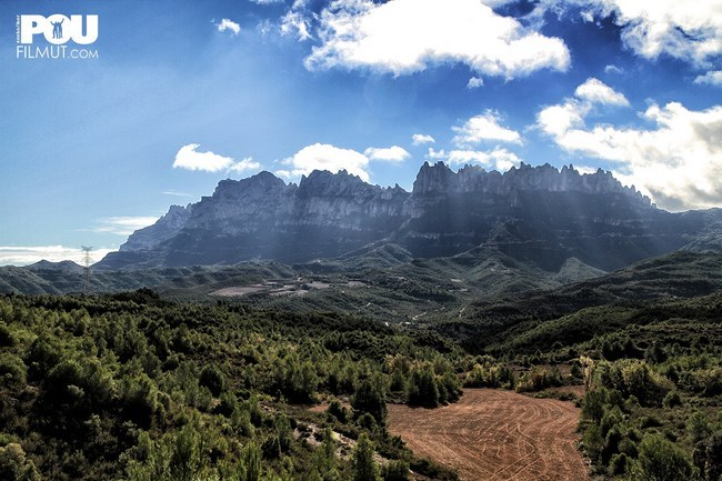 The splendid Montserrat mountain chain in Spain, Filmut