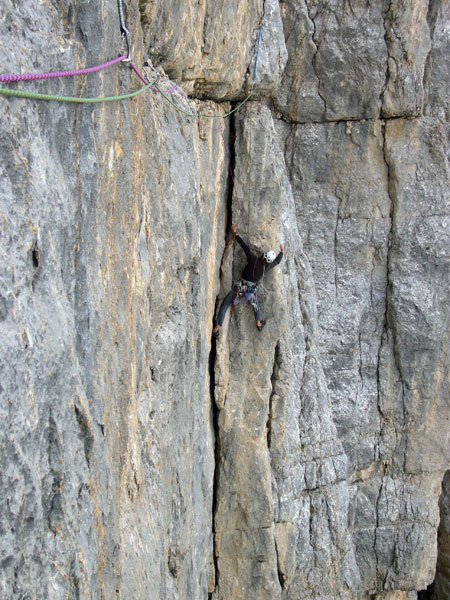 Nicola Sartori on the 3rd pitch, arch. N. Tondini