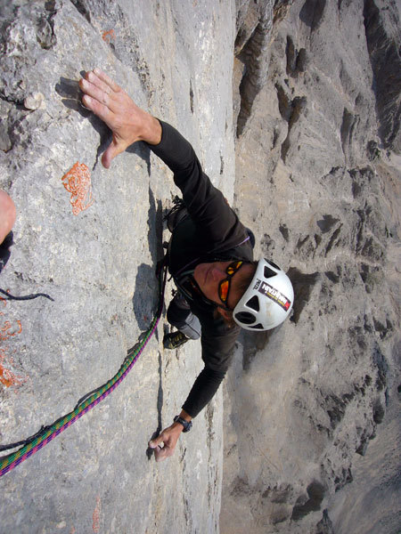 Nicola Sartori on the 7th pitch, arch. N. Tondini