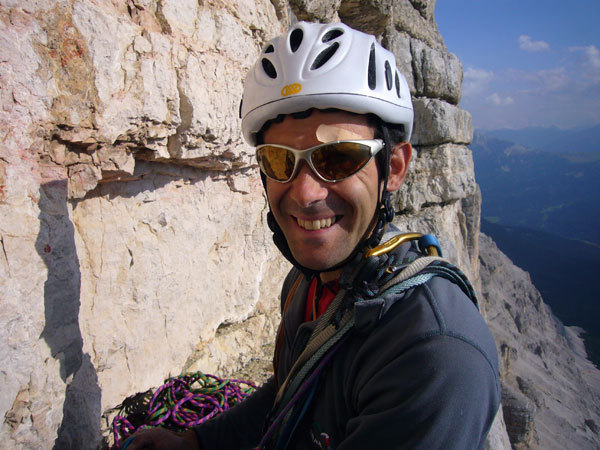 Nicola Tondini on the final belay., Nicola Sartori