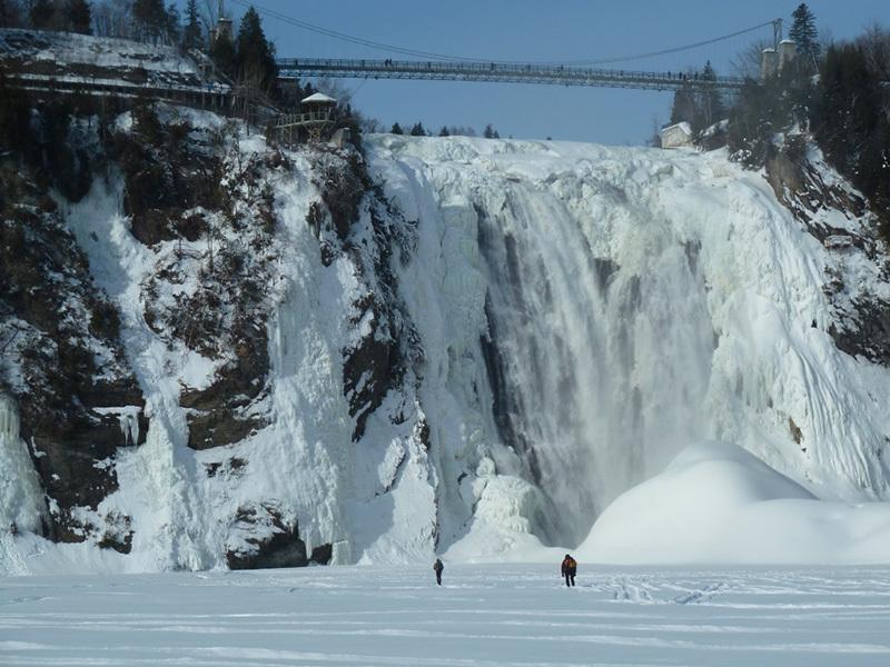 Verso la Chute de Montmorency, archivio Gipsy Ice Tour 2014