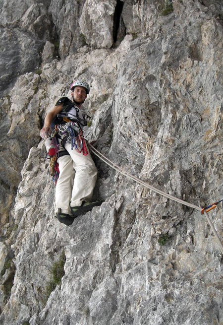 Alessio Roverato sul 21° tiro della Miotto-Bee alla sud-ovest del Burel, Beppe Ballico