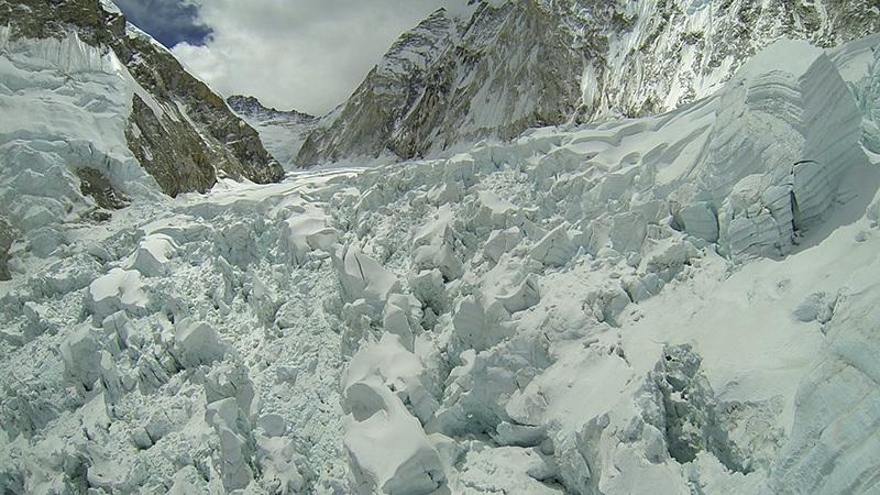 L'icefall fotografato nel 2012, Simone Moro