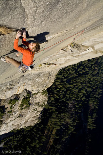 Nicolas Favresse on the 5.13a twelfth pitch of