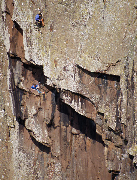 Alastair Lee fixed behind the lens as Ricky Bell takes a dangerous