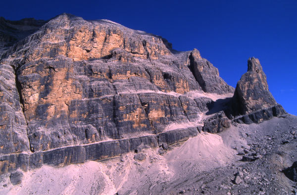 The immense West Face of Tofana di Rozes.