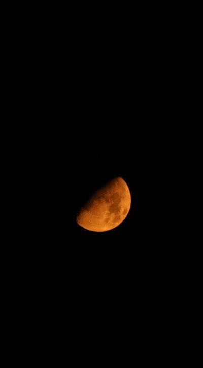 Mi fermo a contemplare lo spicchio ridente di una luna luccicante, dalla bellezza effimera, che pare fatta d'avorio., Il bocia capellone