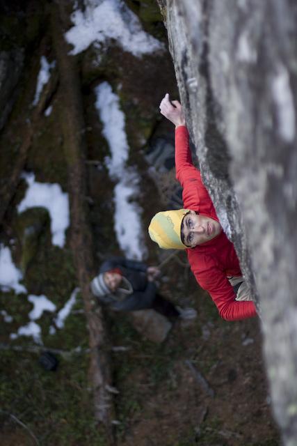 Hansjörg Auer climbing at Niederthai, Ötztal, Austria, Heiko Wilhelm