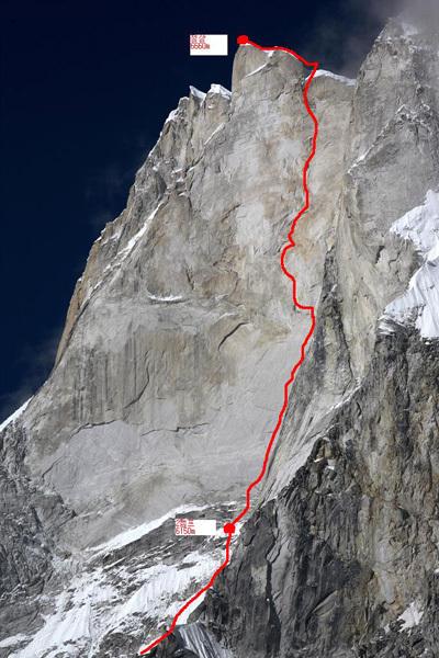 Meru Peak (6660m) Parete NO, archivio Piolet d'Or Asia