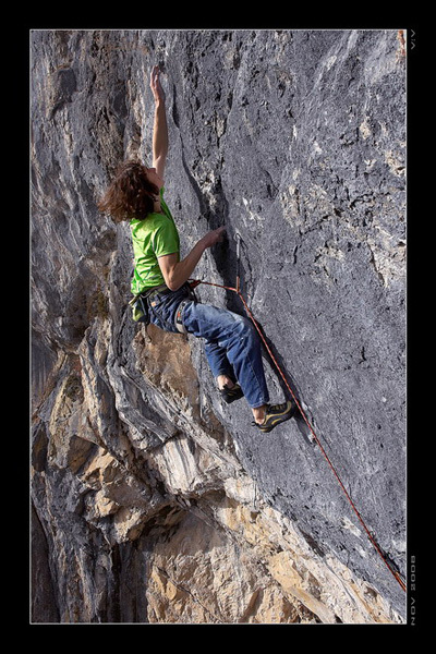 2008. Adam Ondra during the second ascent of Open Air, 9a+ Schleierwasserfall, Austria, Vojtech Vrzba