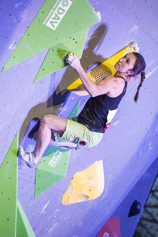 Juliane Wurm wins the Bouldering World Championships 2014