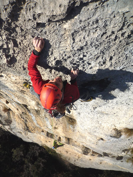 Martin Riegler on the 2nd pitch of Pandora, Arco, Duck Young Im