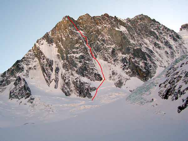 The Colton Macintyre on the Grandes Jorasses, first climbed by Nick Colton and Alex MacIntyre in 1976., Steck archive