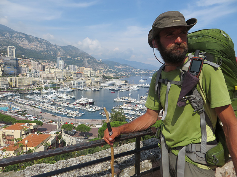 Ivan Peri reaches Monte Carlo after walking for 80 days Across the Alps