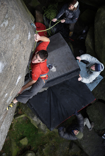 Alex Honnold on The Promise, Burbage, England, David Simmonite