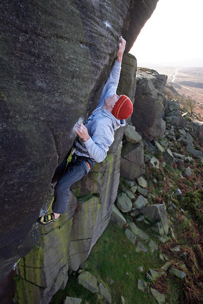 Alex Honnold, Parthian Shot, Burbage, England, David Simmonite