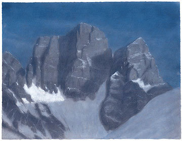 Pelmo, Dolomiti. Pastello 66.04 x 50.8, Riccarda de Eccher