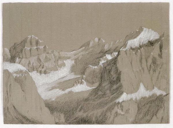Conturines, Dolomiti. Pastello 66x48.2, Riccarda de Eccher