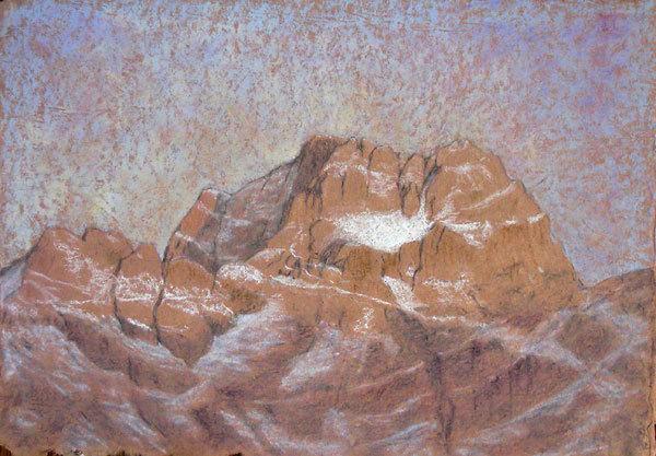 Sorapis, Dolomiti. Pastello 45.5 x 32, Riccarda de Eccher